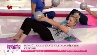 Songül Karlı,canlı Yayında Pilates Yaptı!