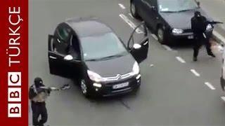 Fransa'da Charlie Hebdo'ya Saldırı Anının Görüntüleri - BBC TÜRKÇE